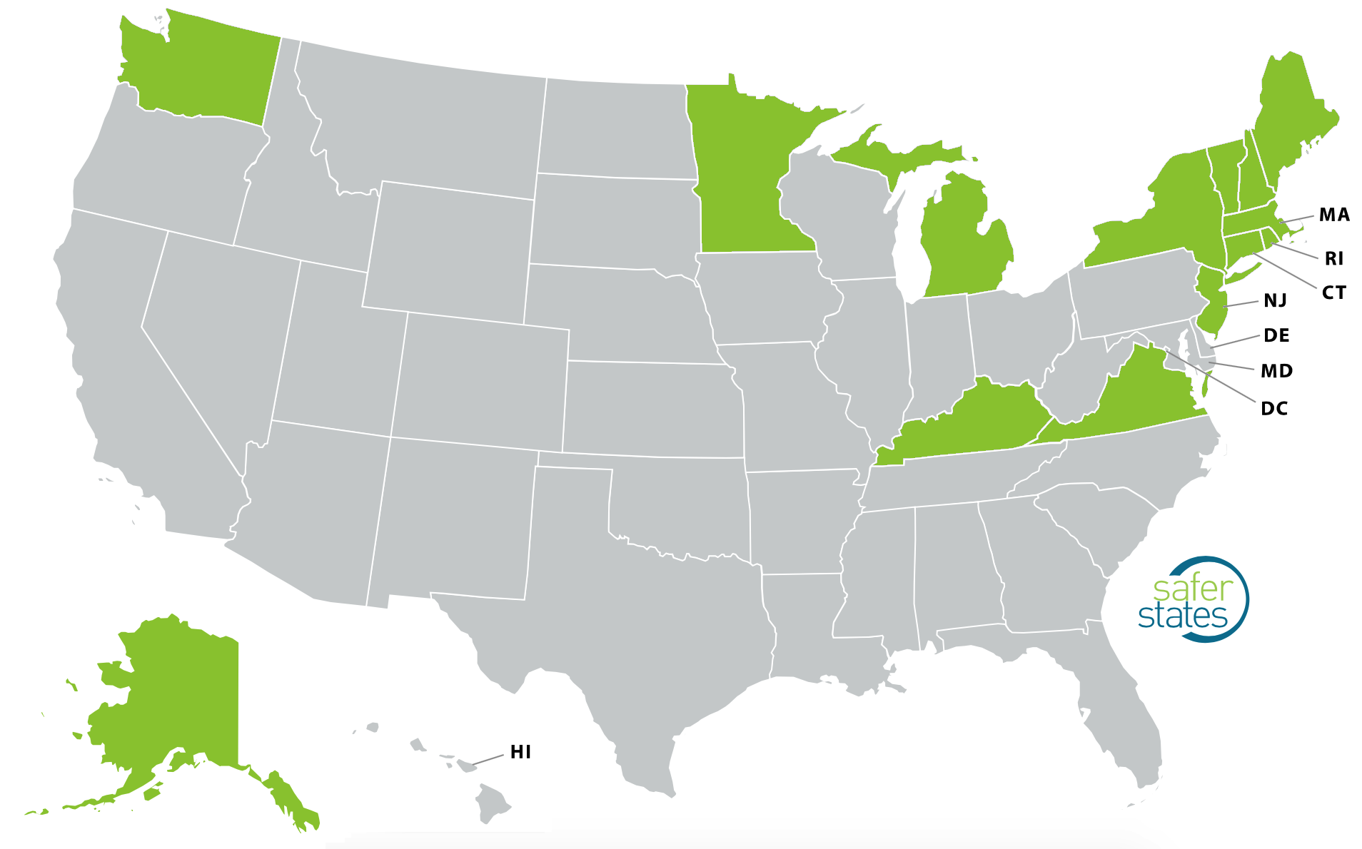 2019 EPA Announcement PFAS Policies map2
